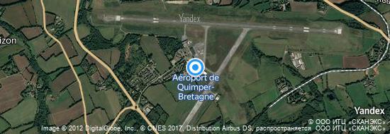 Aéroport de Quimper-Cournouaille Pluguffan- carte