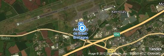 Aéroport de Brest-Bretagne Guipavas- carte