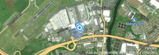 Aéroport de Glasgow-International- carte