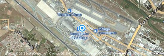Aéroport de Málaga-Costa del Sol- carte
