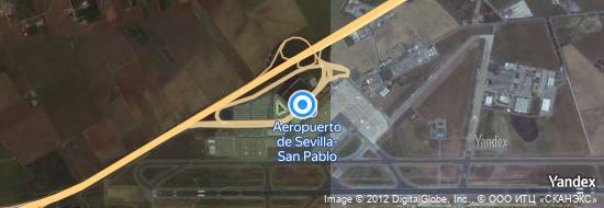Aeropuerto Sevilla - mapa