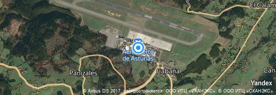 Aéroport d'Oviedo-Asturies- carte