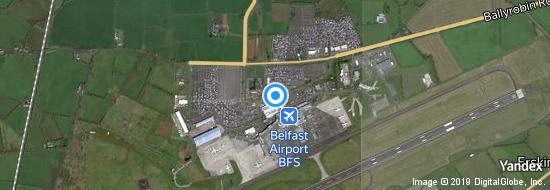 Aéroport de Belfast-International- carte