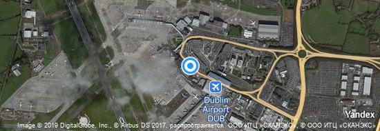 Flughafen Dublin - Karte