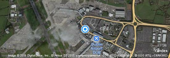 Aéroport de Dublin-International- carte