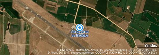 Aeropuerto Badajoz - mapa