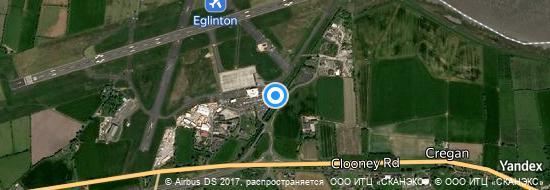 Flughafen Derry - Karte