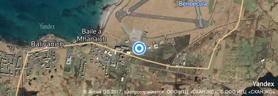 Aéroport de Benbecula- carte