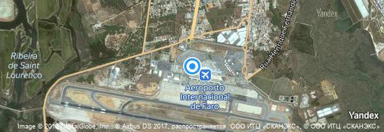Aéroport de Faro- carte
