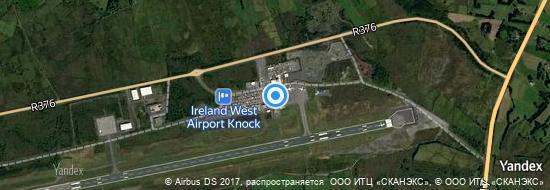 Flughafen Knock Irland - Karte
