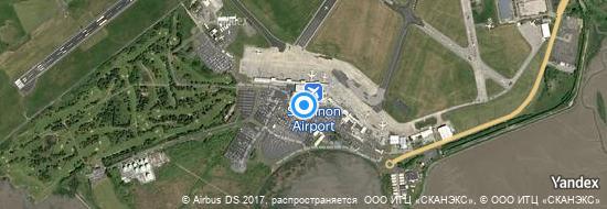 Flughafen Shannon - Karte