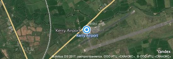 Flygplats Kerry - Karta