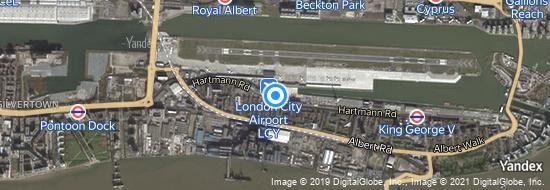 Flughafen London City - Karte