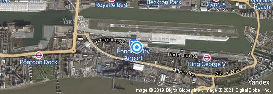 Aeropuerto Londres City - mapa