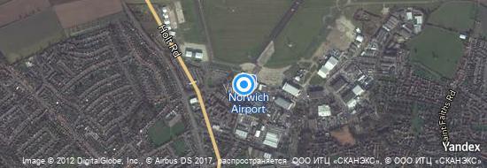 Flughafen Norwich - Karte