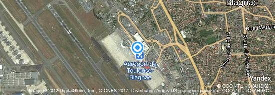 Aéroport de Toulouse-Blagnac- carte