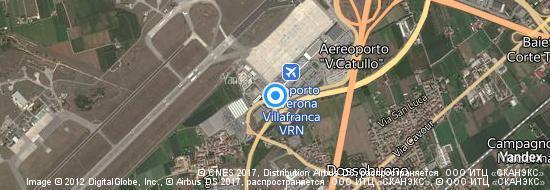 Aéroport de Vérone- carte