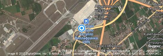 Аэропорт Верона - Карта