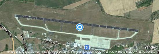 Flughafen Erfurt - Karte