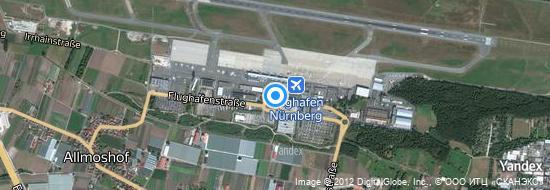 Aéroport de Nuremberg Albrecht Dürer- carte