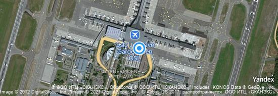 Aéroport d'Oslo-Gardermoen- carte