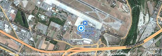 Aéroport de Bologne-Guglielmo Marconi- carte