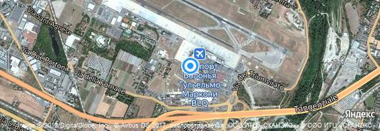 Аэропорт Болонья - Карта