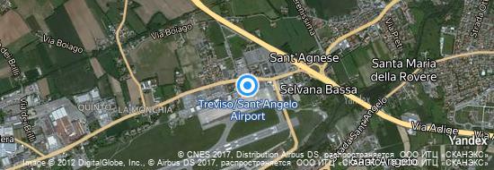 Aéroport de Trévise- carte