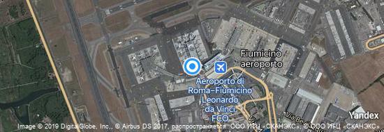 Aéroport de Rome-Fiumicino-Léonard-de-Vinci- carte