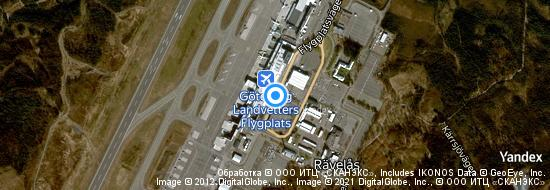 Aéroport de Göteborg-Landvetter- carte