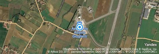 Aéroport de Pérouse-Sant`Egidio- carte