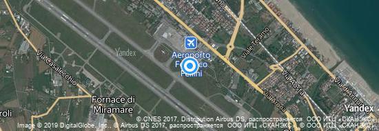 Aéroport de Rimini-Miramare-Federico Fellini- carte