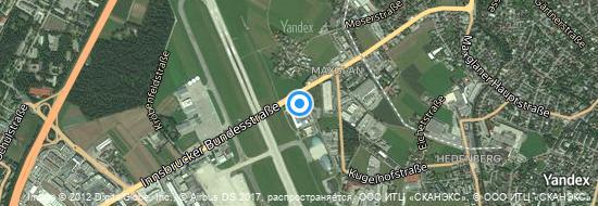 Flughafen Salzburg - Karte