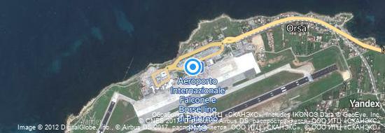 Aéroport de Palerme-Falcone Borsellino- carte