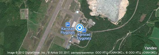 Flughafen Karlstad - Karte