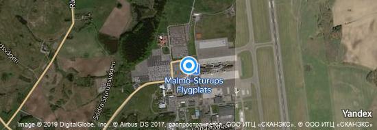 Aéroport de Malmö-Sturup- carte