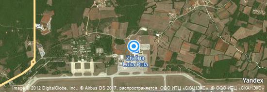 Aéroport de Pula- carte