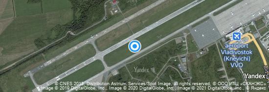 Flughafen Wladiwostok - Karte