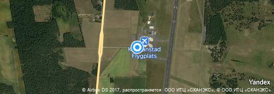 Aéroport de Kristianstad- carte