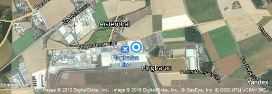 Flughafen Linz - Karte