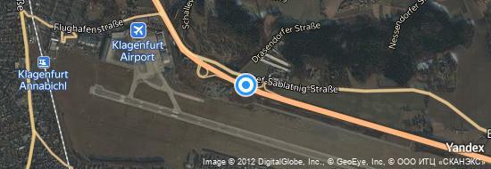 Flughafen Klagenfurt - Karte