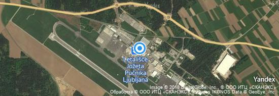 Flughafen Ljubljana Brnik - Karte