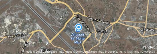 Aéroport de Malte- carte