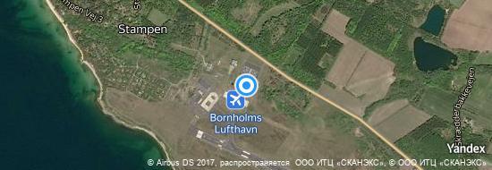 Airport Bornholm - Map