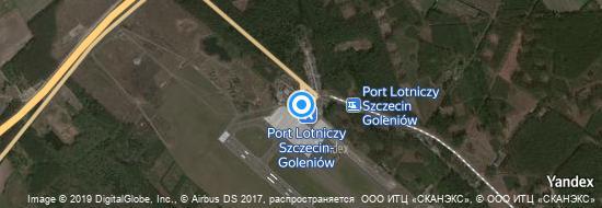 Flughafen Stettin - Karte