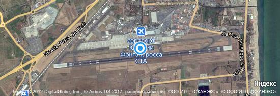 Аэропорт Катания - Карта