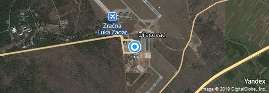 Aéroport de Zadar- carte