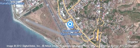 Аэропорт Реджио ди Калабрия - Карта