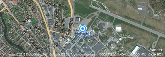 Aéroport de Linköping-City- carte