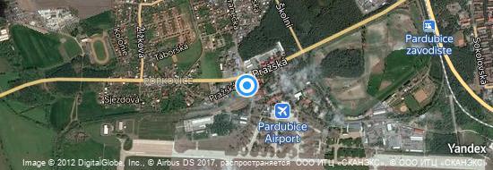Flughafen Pardubice - Karte